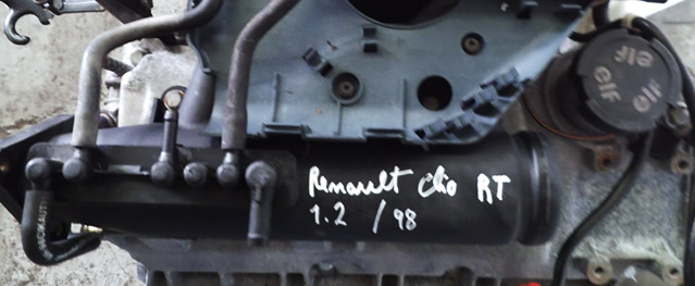 Motor RENAULT CLIO RT 1.2 58cv Ref. D7F720