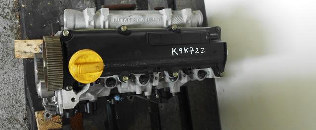 Motor Reconstruido RENAULT MEGANE 1.5DCI 80cv Ref. K9K722